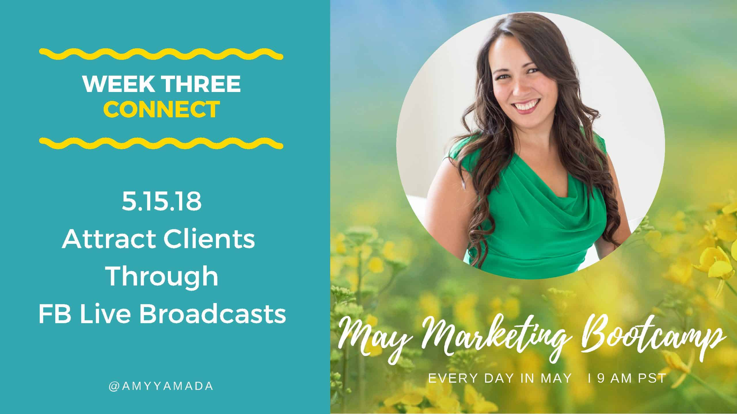 Attracting clients through Facebook Live Broadcasts