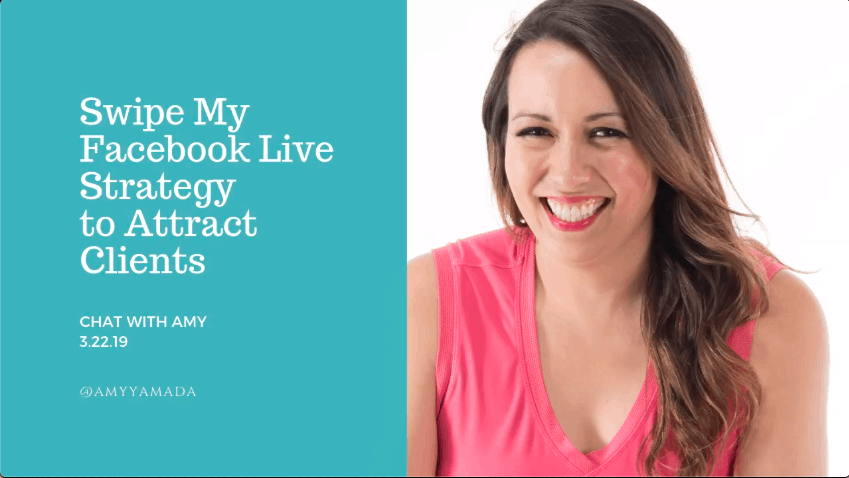 Swipe My Facebook Live Strategy to Attract Clients